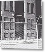 Barbed Wire Rowhouses Metal Print