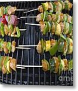 Barbeque Kabobs On Grill Metal Print
