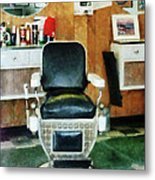 Barber - Barber Chair Front View Metal Print