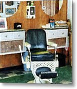 Barber - Barber Shop One Chair Metal Print