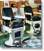 Barber - Corner Barber Shop Metal Print