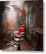 Barber - Eastern State Penitentiary - Remembering My Last Haircut  Metal Print by Mike Savad