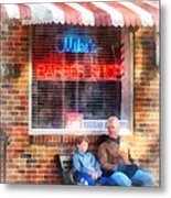 Barber - Neighborhood Barber Shop Metal Print