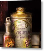 Barber -  Sharp And Dohmes Violet Toilet Powder  Metal Print by Mike Savad