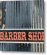 Barber Shop - Photopower Metal Print