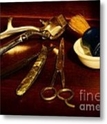 Barber - Things In A Barber Shop Metal Print