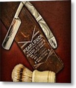 Barber - Tools For A Close Shave  Metal Print