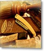Barber Tools Metal Print