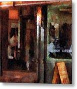 Barber - West Village Barber Shop Metal Print