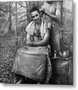 Barber - Wwii - Gi Haircut Metal Print