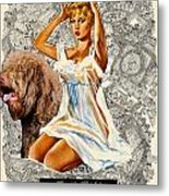 Barbet Art - Una Parisienne Movie Poster Metal Print by Sandra Sij