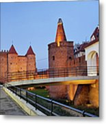 Barbican In The Old Town Of Warsaw Metal Print