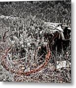 Barbwire Wreath 1 Metal Print