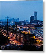 Barcelona At Night  Metal Print