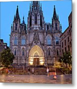 Barcelona Cathedral In The Evening Metal Print