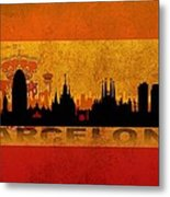 Barcelona City Metal Print