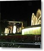 Barcelona Fountain Metal Print