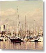 Barcelona Harbor - Vertical Metal Print