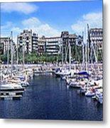 Barcelona Spain Port Vell Marina 3 Metal Print