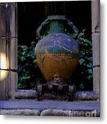 Barcelona Spain Vase Metal Print