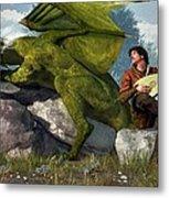 Bard And Dragon Metal Print by Daniel Eskridge