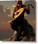 Bard With Lute Metal Print
