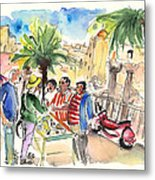 Bargaining Tourists In Siracusa Metal Print