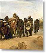 Barge Haulers On The Volga Metal Print