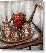 Barista - Tea Set - Morning Tea  Metal Print