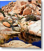 Barker Dam Big Horn Dam By Diana Sainz Metal Print
