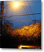 Barksdale Blue And Yellow  Metal Print