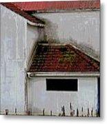 Barn - Geometry - Red Roof Metal Print