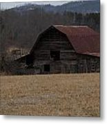 Barn Across The Field Metal Print