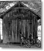 Barn And Bikes Metal Print by Paulette Maffucci