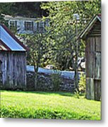 Barn And Chicken Coop Metal Print