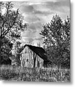 Barn And Clouds Metal Print