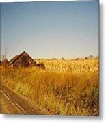 Barn And Corn Field Metal Print