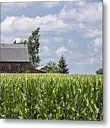 Barn And Corn Metal Print