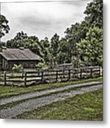 Barn And Corral Metal Print by Guy Shultz