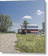 Barn And Dirt Road Metal Print