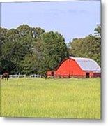 Barn And Pasture Metal Print