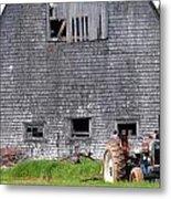 Barn And Tractor Pei Metal Print