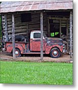 Barn And Truck  Metal Print