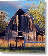 Barn At Ash Flat Arkansas Metal Print