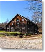 Barn At Billie Creek Village Metal Print