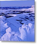 Barn Bluff And Mountains On Route Of Metal Print