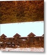 Barn Built By The Ccc At The Tieton Work Center Metal Print