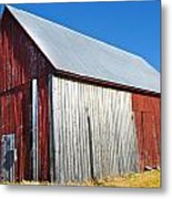 Barn By Side Of Road Metal Print