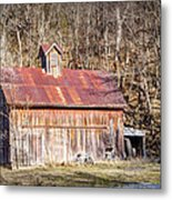 Barn By The Bluffs Metal Print