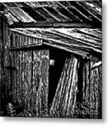 Barn Doors Metal Print by Walt Foegelle